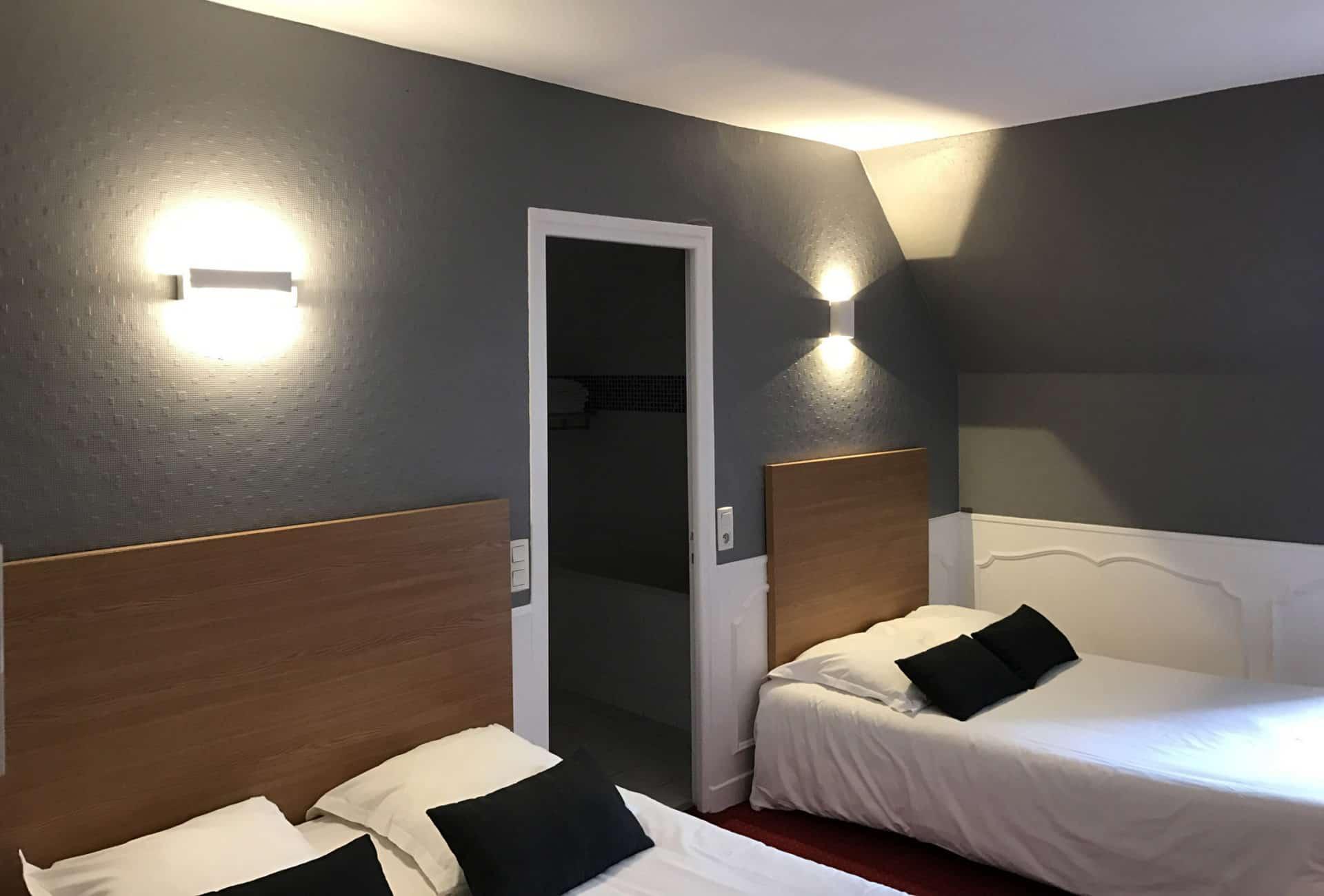 Chambre triple hotel Brive